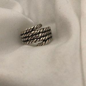 David yurman serpentine willow ring w diamonds
